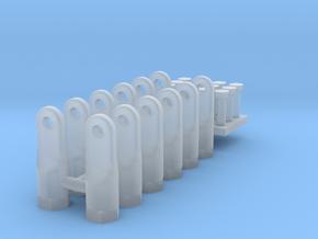 12 Embouts males pour tringles de commande in Smooth Fine Detail Plastic