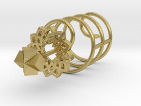 spiral flower earring/pendant in Natural Brass (Interlocking Parts)