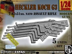 1/24 heckler Koch G3 Set in Smoothest Fine Detail Plastic