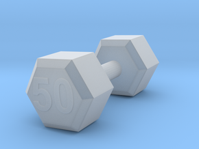 dumbbell 50 weight in Smooth Fine Detail Plastic