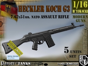 1/16 heckler Koch G3 Set in Smooth Fine Detail Plastic