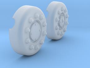 1/18 Dragon Wagon Wheel Center Set101 in Smooth Fine Detail Plastic