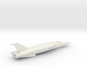 F-111TACT-144scale-WingsFwd-01-Airframe in White Natural Versatile Plastic