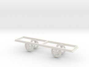 O scale Giant's Causeway tram No 2 wheel assembly  in White Natural Versatile Plastic: 1:43.5