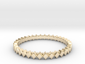 Rhombus Double Layer Band Ring in 14k Gold Plated Brass: 4 / 46.5