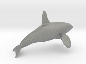 Orca Bull Male N scale in Gray PA12