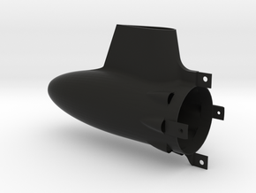 Long 50mm Tailcone for HET 800 motors in Black Natural Versatile Plastic