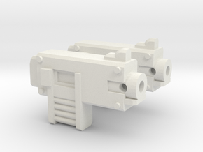 Weapon pair : bolters in White Natural Versatile Plastic