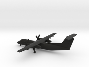 Bombardier Dash 8 Q300 in Black Natural Versatile Plastic: 1:350