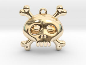 Pirate in 14k Gold Plated Brass: Extra Small