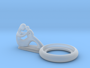 Mother and child candle holder in Smooth Fine Detail Plastic