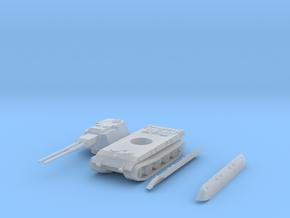flakpanzer E100 scale 1/144 in Smooth Fine Detail Plastic