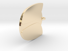 Tulip_solid_1 v1 in 14k Gold Plated Brass