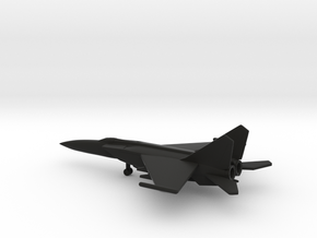 MiG-25PDS (with droptanks) in Black Natural Versatile Plastic: 6mm
