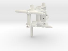 Nano CPX Frame for HP03SPE v2 & v1 Brushless Outru in White Natural Versatile Plastic