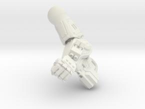 Fireborn UGAL - Left Arm in White Natural Versatile Plastic