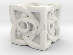 Celtic D6 - Solid Centre for Plastic in White Premium Versatile Plastic