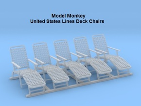 1/96 Deck Chairs (United States Lines) in Smoothest Fine Detail Plastic