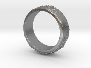 Moon Ring in Natural Silver