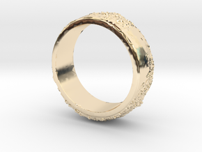 Moon Ring in 14K Yellow Gold