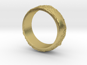 Moon Ring in Natural Brass