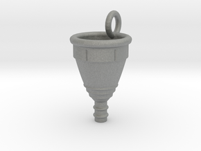 Menstrual Cup Pendant large in Gray PA12