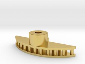 Radarkopf Hälsingland in Polished Brass