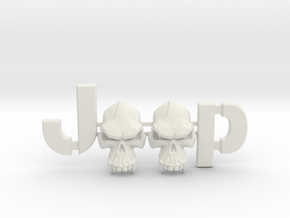 #CuzitsCustom Evil Monkey Skulls (LG-Willys) in White Natural Versatile Plastic