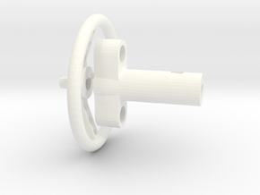F150 Interior 058023-02 Tamiya F150 Wheel & Column in White Processed Versatile Plastic