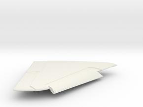 A-4E-144scale-04-RightWing-SlatsDown in White Natural Versatile Plastic