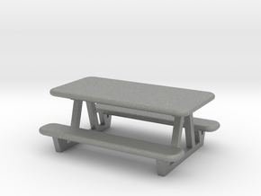 picnic table N scale in Gray PA12