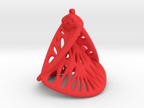 Enneper Earring (007) in Red Processed Versatile Plastic