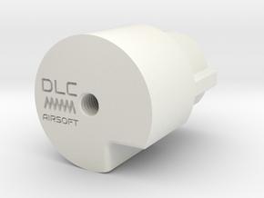 CA Stoner 96 LMG buffer tube adaptor in White Natural Versatile Plastic