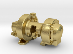"""1:16 Scale Pyle Type """"K2"""" Steam Turbo Generator in Natural Brass"""