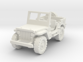 Jeep Willys scale 1/100 in White Natural Versatile Plastic