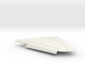 OA-4M-144scale-05-LeftWing-SlatsDown in White Natural Versatile Plastic