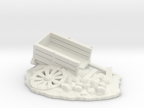 """barrow """"destroyed"""" (25 - 28mm scale) in White Natural Versatile Plastic"""