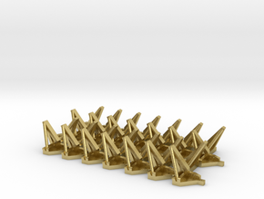 N scale 1/160 SRB Clamshell Brackets (x28) in Natural Brass