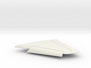 TA-4F-144scale-05-LeftWing-SlatsDown in White Natural Versatile Plastic