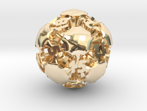 Chord d20 in 14k Gold Plated Brass