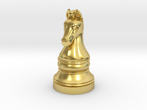 Knight - [2,1] Classic in Polished Brass