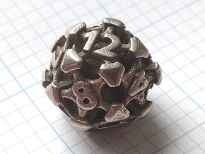 Chord Die12 in Polished Bronzed-Silver Steel