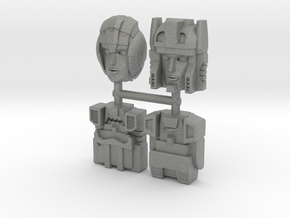 Headmasters Faceplate Four Pack in Gray PA12