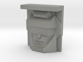 Bonecrusher, Sunbow Face (Titans Return) in Gray Professional Plastic