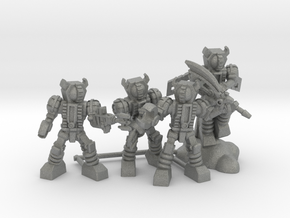 Waruder Kuwagatrer Squad, set of 4 35mm Minis in Gray Professional Plastic