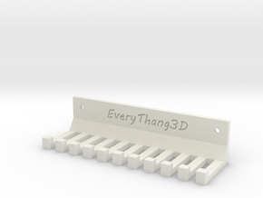 Cable Management for Wall or Table Mount (10 Slots in White Natural Versatile Plastic