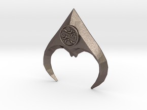 jareth's medallion half in Polished Bronzed-Silver Steel