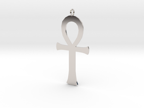 ankh in Rhodium Plated Brass