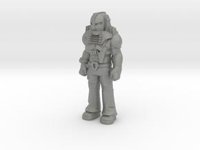 Cliff Dagger, standing, 35mm mini in Gray PA12