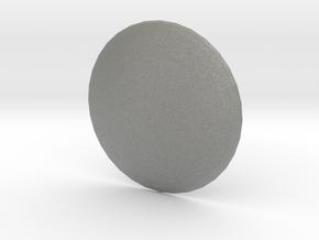 Round Custom Symbol Shield, 5mm in Gray PA12